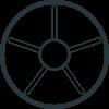 Heat detector black icon