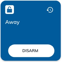 Nearsens app alarm away activated tile