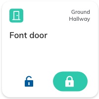 Nearsens app front door smart lock tile