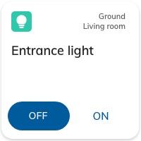 Nearsens app entrance light switch tile