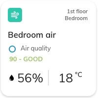 Nearsens app bedroom air quality tile