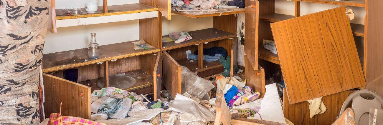 Home in mess after squatter left