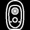 Ezviz White wire free camera compatible with Nearsens